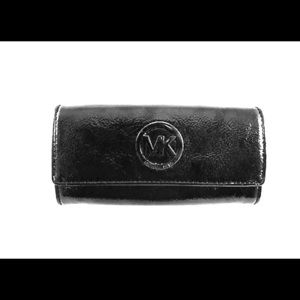 Michael Kira Patent Leather Wallet